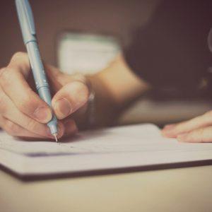 escribir manos letra