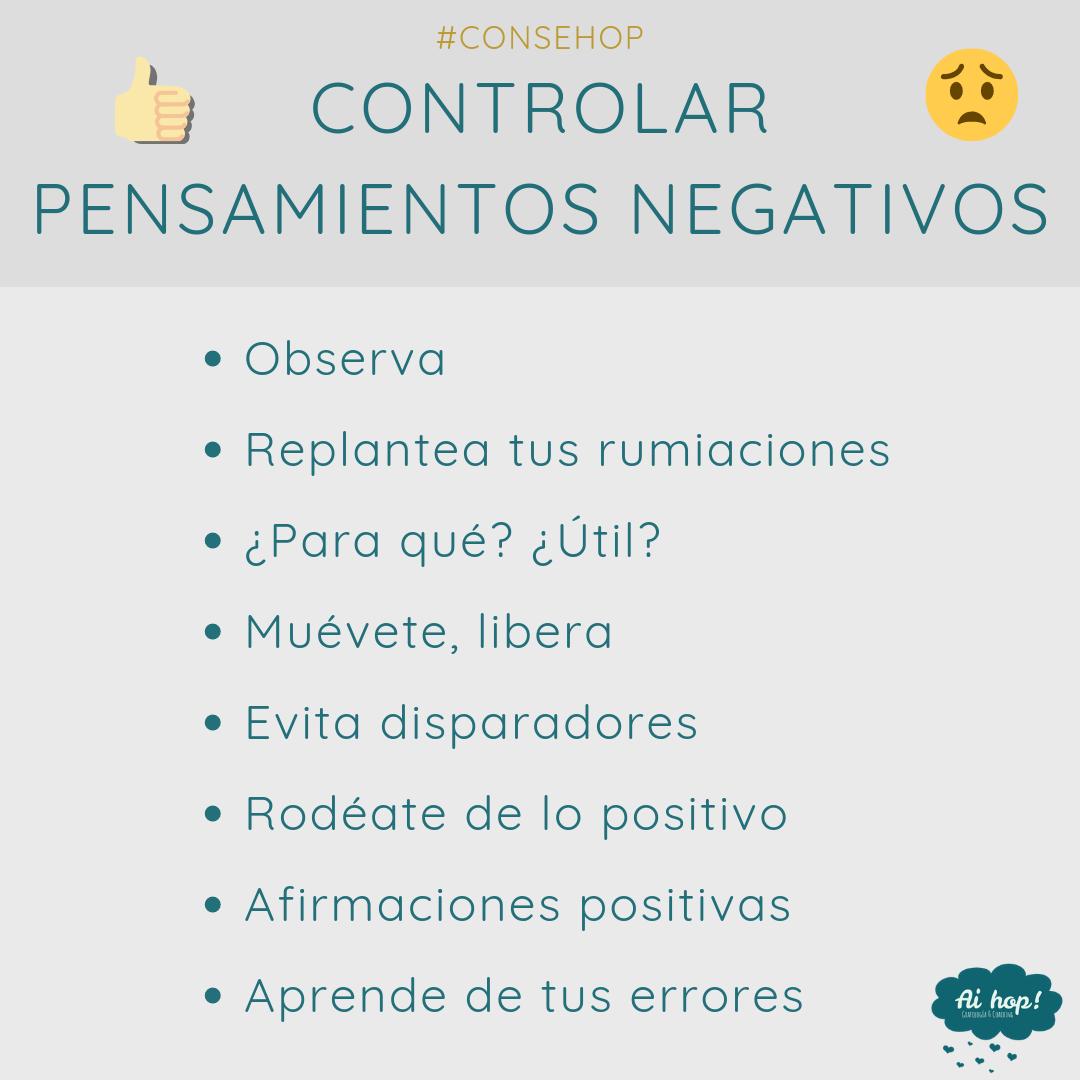 Consehop Control pensamientos negativos