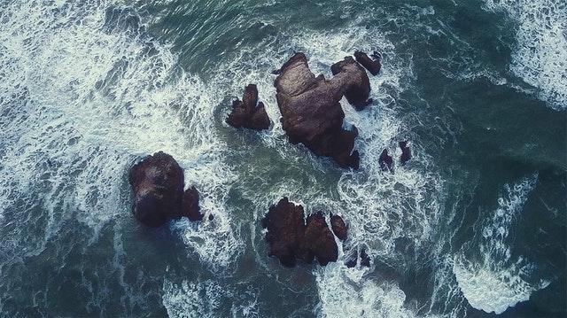 naturaleza agua rocas realidad